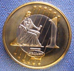 SET 8 coins EURO SPECIMEN ESSAI PROBE BI-METALLIC ISLANDS 2004
