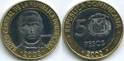 5 Y 10 Pesos Dominicanos Valor De Unos 20 Céntimos Euro Respectivamente